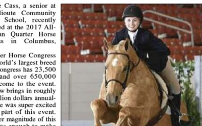 Hailie Cass and Skip Win Reserve Champion Award