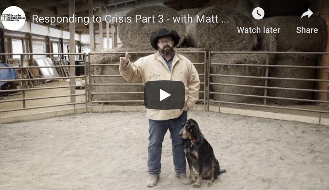 Responding to Crisis Part 3 with Matt Cox